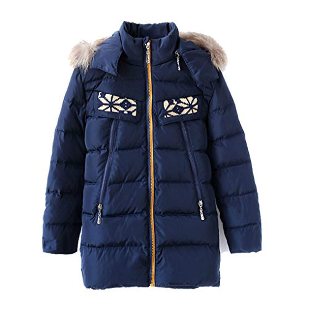 M2C Boys & Girls Fur Hooded Lightweight Puffer Down Jacket Outerwear Packable Down Coat SBDN02USB