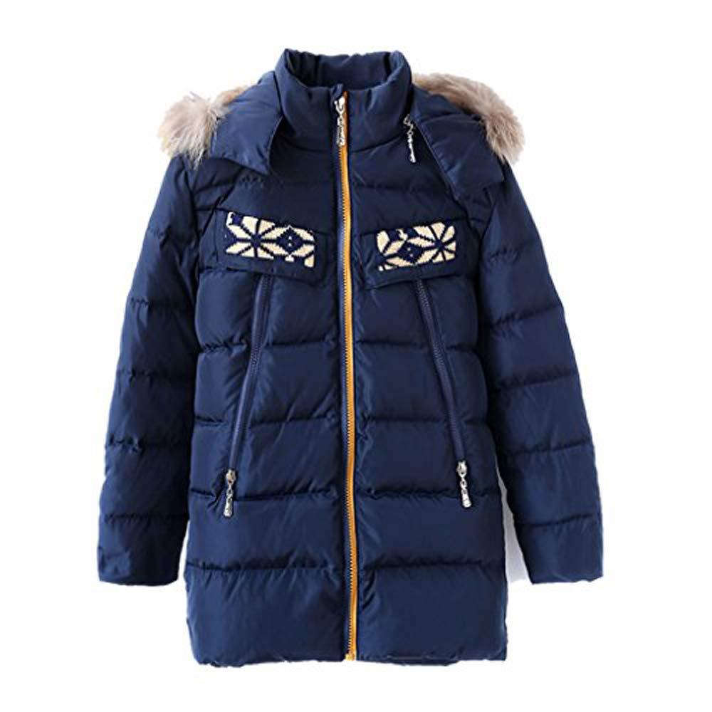 M2C Boys & Girls Fur Hooded Lightweight Puffer Down Jacket Outerwear Packable Down Coat SBDN02USB