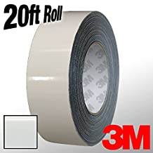 "3M 1080 White Gloss Vinyl Detailing Wrap Pinstriping Tape 20ft Roll (4"" x 20ft)"