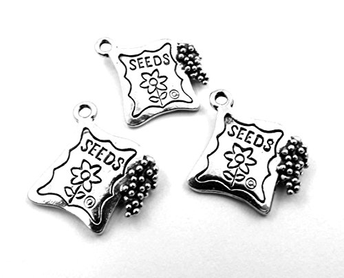 Set of Three (3) Silver Tone Pewter Seed Packet ()