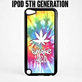 ipod 5 case tie dye - iPod Case Tie Dye Smoke 420 Weed for Apple iPod 5/5th Generation Plastic Black (Ships from CA)