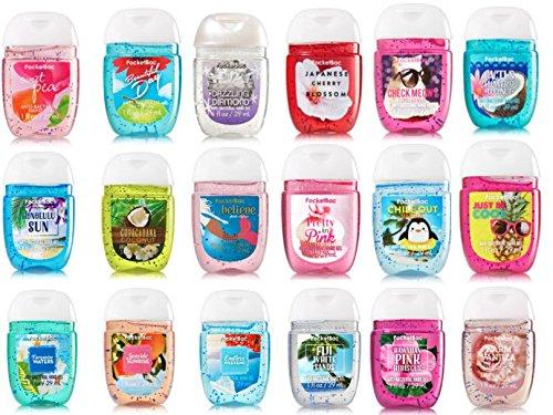 Bath & Body Works Pocketbac Bundle Of 5 - Assorted Grab Bag Bundle Of 5 Pocket Sized Hand Sanitizer Antibacterial Hand Gels