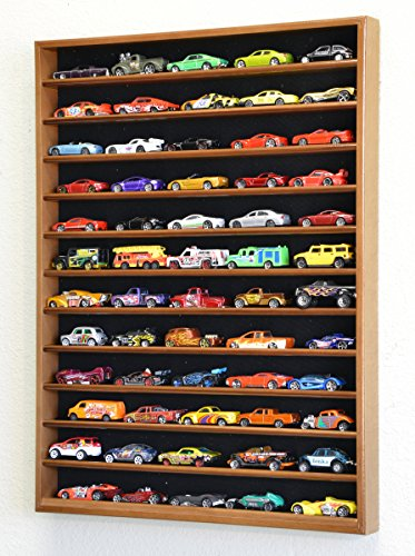 60 Hot Wheels Hotwheels Matchbox 1/64 Scale Diecast Model Cars Display Case – NO DOOR (Wal ...