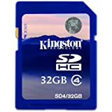 Nikon D3000 32GB SD SDHC Kingston Memory Card Class 4 For Camera