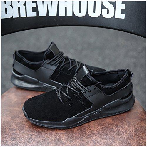 Leader show Mens Fashion Elastic Comfortable Sneaker Casual Sport Walking Shoes Black-1 nP4IYUnY2