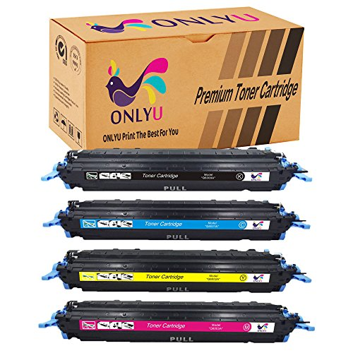 ONLYU Compatible Toner Cartridge Replacement For 124A Q6000A 4-Pack(1Black + 3Color) For Color LaserJet 1600 2600n 2605dn 2605dtn CM1015 CM1017 Printer (Cm1017 Magenta Toner)