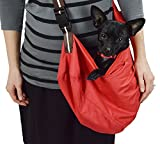 Wewalab Red Pet Sling Carrier With Shoulder Pad for Small To Medium Dog- Cloth Totes and Carriers By Cozy Courier -Size Medium Pet Carrier
