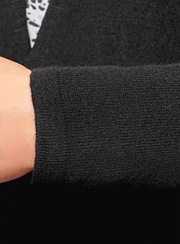oodji 2900n en Ultra Tricot Femme Cardigan Fermeture Noir sans CqC6vrw