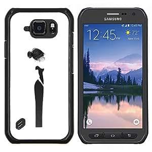 Stuss Case / Funda Carcasa protectora - Couture Femme Robe Noire - Samsung Galaxy S6Active Active G890A