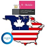 (14 Days) USA Canada Authentic T-Mobile Tmobile Prepaid Sim Card Unlimited High-Speed (True Unlimited, No Throttling) 4G/3G/2G LTE Unlimited Talk & Text GSM (USA) Unactivated Hotspot