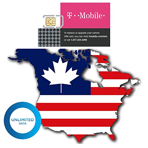 2-Pack (14 Days) USA Canada Authentic T-Mobile Tmobile Prepaid Sim Card Unlimited High-Speed (True Unlimited No Throttling) 4G/3G LTE Unlimited Talk Text GSM (USA) Hotspot + Eject Tool (Best Prepaid Cell Phone Canada)
