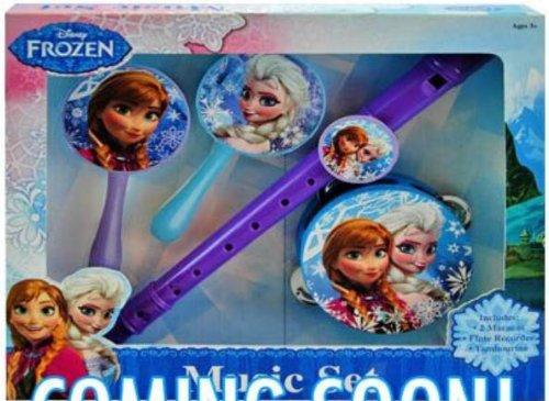 Disney Frozen Musical Instrument Set (Recorder, Maracas, Tambourine) by Disney Frozen