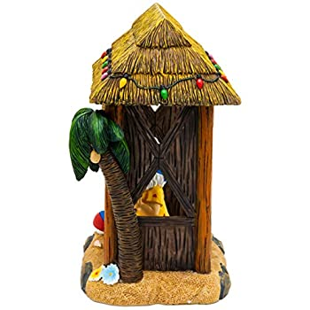 Garden Gnome Statue Home Outdoor Garden Lawn Funny Figure Tropical Great Gifts (Tiki Beach Party)