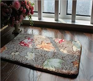 Alfombras luxbon alfombra moderna hoja y 50cmx80cm - Alfombras cocina amazon ...