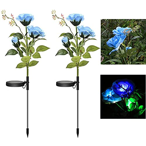 Outdoor Solar Peony Flower Light LED Outdoor Garden Simulation Flower Lawn Light Plug-In Garden Decoration Landscape(D)