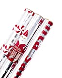 Hallmark Christmas Wrapping Paper Santa Foil Pack of 3 60 sq.'
