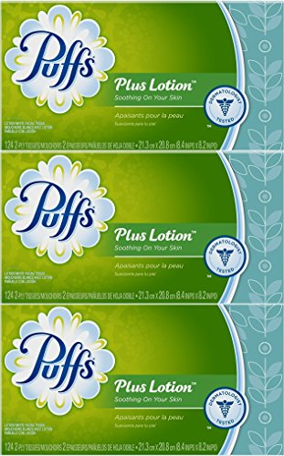 (Puffs Plus Lotion Facial Tissues, 3 Box Each 124)