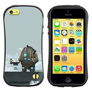 LASTONE PHONE CASE / Suave Silicona Caso Carcasa de Caucho Funda para Apple Iphone 5C / Funny Abstract Space Coffee