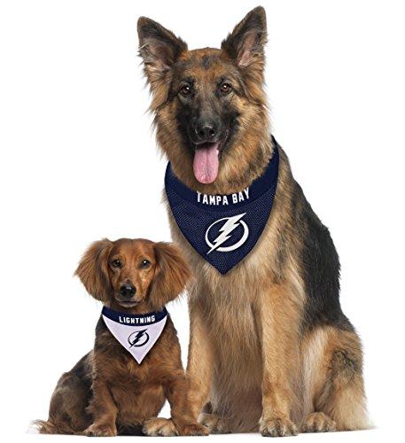 NHL Tampa Bay Lightning Bandana for Dogs & Cats, Large/X-Large. - Cute & Stylish Bandana! The Perfect Hockey Fan Scarf Bandana, Great for Birthdays Or Any Party!