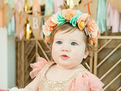 Amazon.com: Flower Crown, Baby Flower Crown, Felt Flower