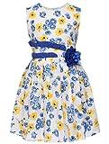 CM-Kid Little Girls Dresses Summer Sleeveless Princess Flower Dress Children Sundress For 6-7Y offers