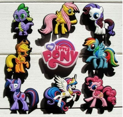 Little Pony Set of 5 Jibbitz (Generic