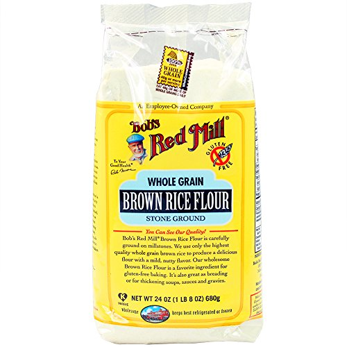 Bob's Red Mill Gluten Free Brown Rice Flour, 24 Oz (4 Pack)