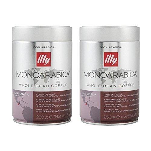 Illy MonoArabica Whole Bean Coffee Guatemala Medium-bodied Coffee, 8.8oz Tin (Pack of - Whole Bean Illy