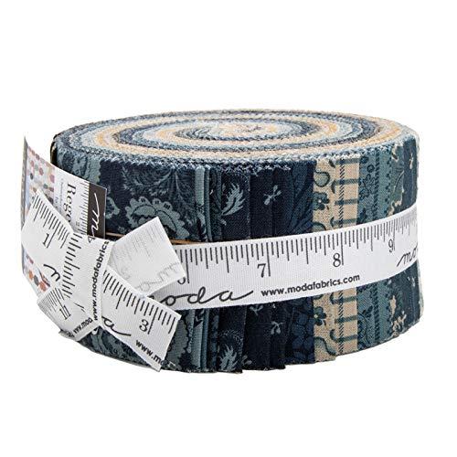 Regency Sussex Jelly Roll 40 2.5-inch Strips by Christopher Wilson-Tate for Moda Fabrics by Moda Fabrics