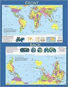 Hobodyer Equal Area Placemat World Map Updated Version - Updated world map