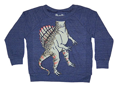 Peek-A-Zoo Toddler Longsleeve Become an Animal Pullover - Spinosaurus Navy - 4T]()