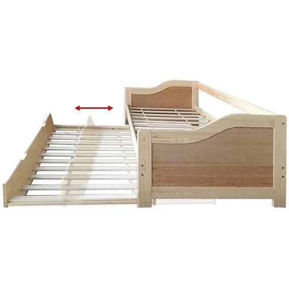 vidaXL Sofá cama / diván de madera de pino 200x90 cm: Amazon.es: Juguetes y juegos