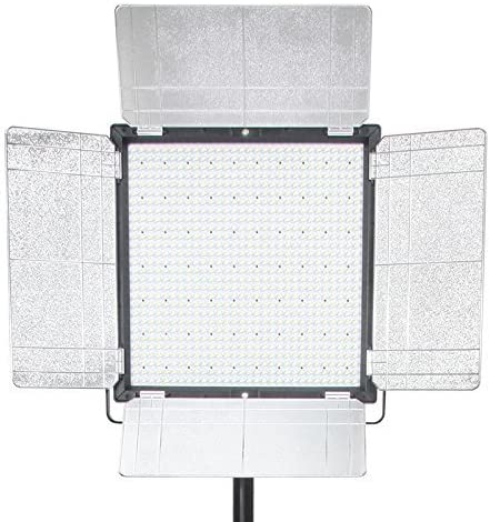 ILEDGear 1296 LED 98TLCI Bi-Color Dimmable Panel 3-Light Kit with V-Mount Plate and Smart SYNC Control Rapid Softboxes with Honeycomb Grid