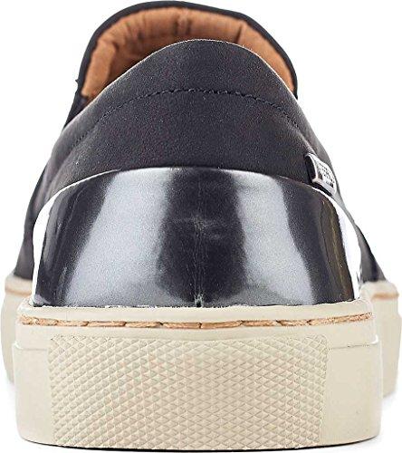 Ciabatte Da Donna Cougar Slip Su Sneaker Impermeabile, Nabuk Nero, Us 8 M