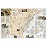 Battles of the Revolutionary War and War of 1812, laminated : Wall Maps History & Nature (Reference - History & Nature)