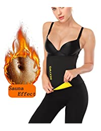 SEXYWG Hot Sweat Neoprene Shaper Velcro Slimming Belt Sauna Waist Trainer Girdle