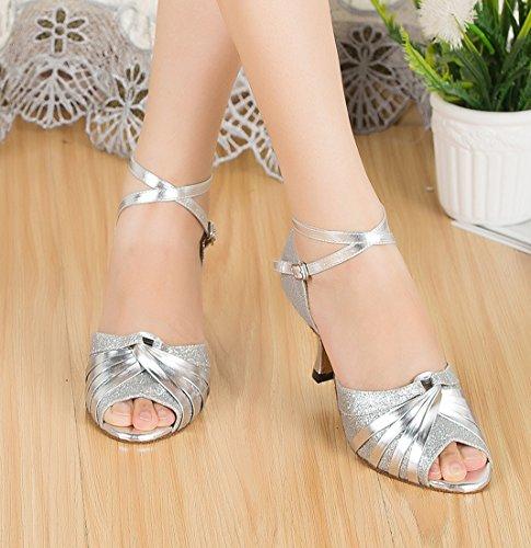 TDA - Zapatos de tacón  mujer 7cm Heel Silver