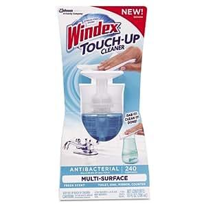 Windex Touch-Up Bathroom Cleaner Fresh Scent Bottle 10 Oz
