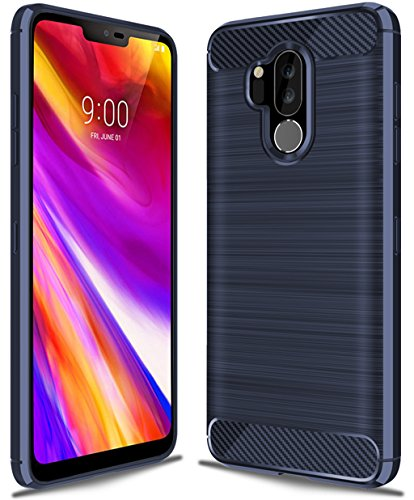 LG G7 ThinQ case,LG G7 Fit Case,LG G7 One Case,LG G7 Case, Sucnakp TPU Shock Absorption Technology Raised Bezels Protective Case Cover for LG G7 Smartphone (TPU Blue)