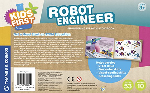 51hBufkFd L - Kids First Robot Engineer Kit and Storybook