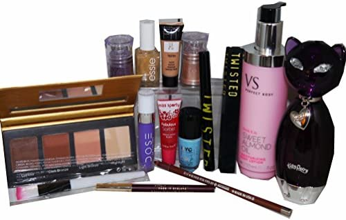 14pc Katy Perry Purr Perfume y dosis de color y Victoria secretos maquillaje y para el cuidado de la piel estuche: Amazon.es: Belleza