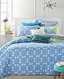 Martha Stewart Bow Tie Geo 5 Pcs King Comforter Set Blue