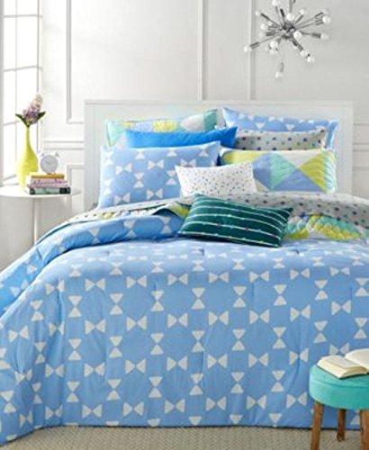 (Martha Stewart Bow Tie Geo 5 Pcs King Comforter Set Blue)