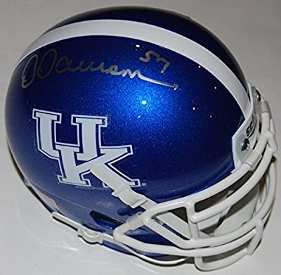 DERMONTI DAWSON signed (KENTUCKY WILDCATS) THROWBACK mini football helmet W/COA - Autographed College Mini Helmets