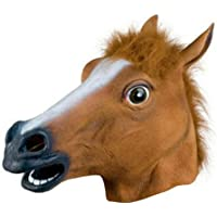 Cimaybeauty New Horse Head Mask Latex Prop Style Toys Party Halloween Easter Halloween Cosplay Dog Horse Head Mask Horse Head Cover