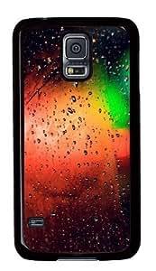 Glass Rain Colorful Custom Samsung Galaxy S5/Samsung S5 Case Cover Polycarbonate Black