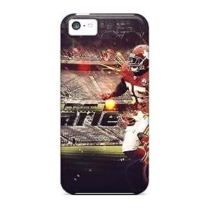 Iphone 5c Kansas City Chiefs Print High Quality Tpu Gel Frame Case Cover