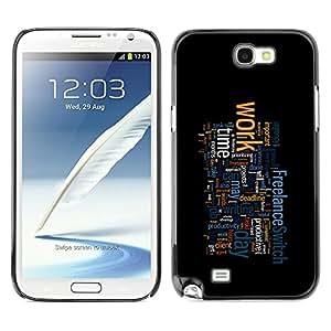 TECHCASE**Cubierta de la caja de protección la piel dura para el ** Samsung Galaxy Note 2 N7100 ** Motivational Typography