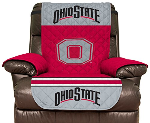 Pegasus Sports NCAA Ohio State Buckeyes Furniture Protector with Elastic Straps, Recliner, Scarlet