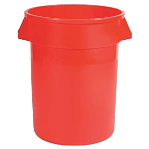 Food-Grade Waste Container, 55 gal., Red